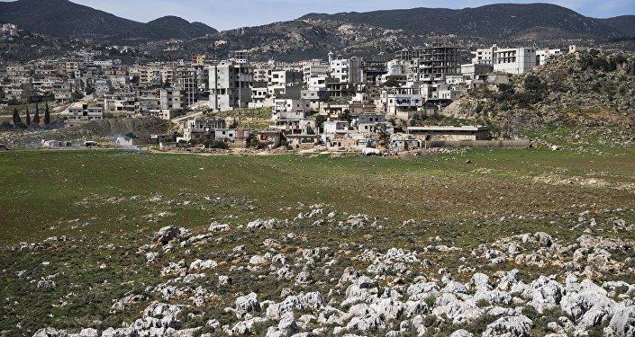 Vista da cidade de Masyaf na província de Hama, na Síria (Arquivo)