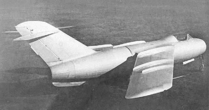 Avião La-176, foto de arquivo