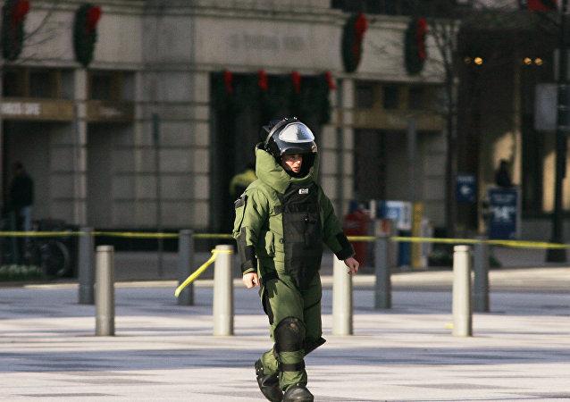 O traje de desarmar bombas (imagem referencial)