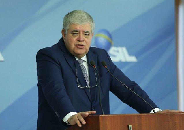 Carlos Marun concede entrevista após reunião no Palácio do Planalto