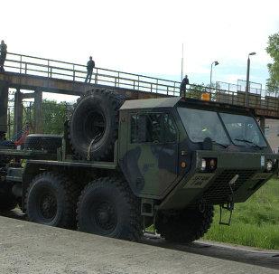 Sistema de mísseis Patriot, fornecido pelos EUA, é estacionado em uma base militar da cidade polonesa de Morąg (foto de arquivo)
