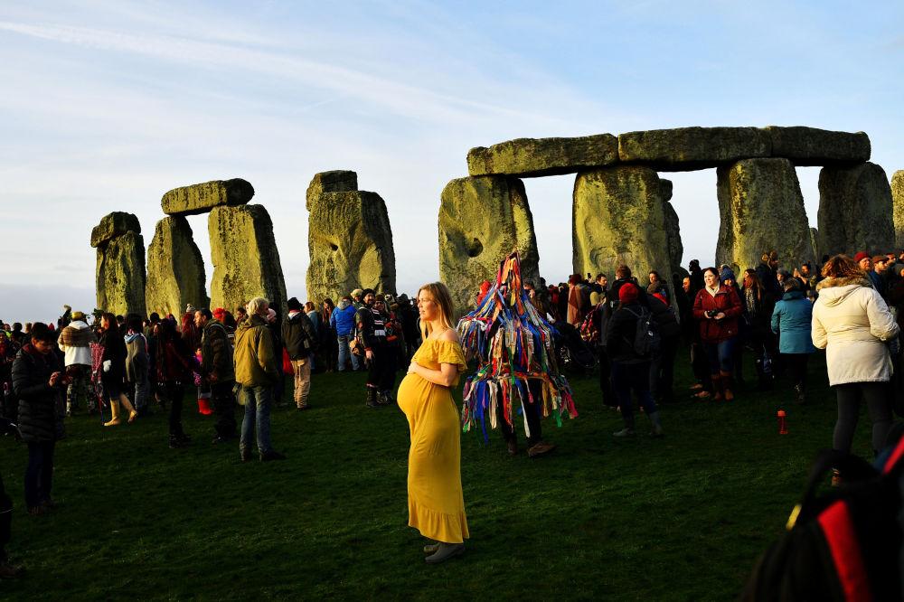 Celebração do solstício de inverno no Reino Unido