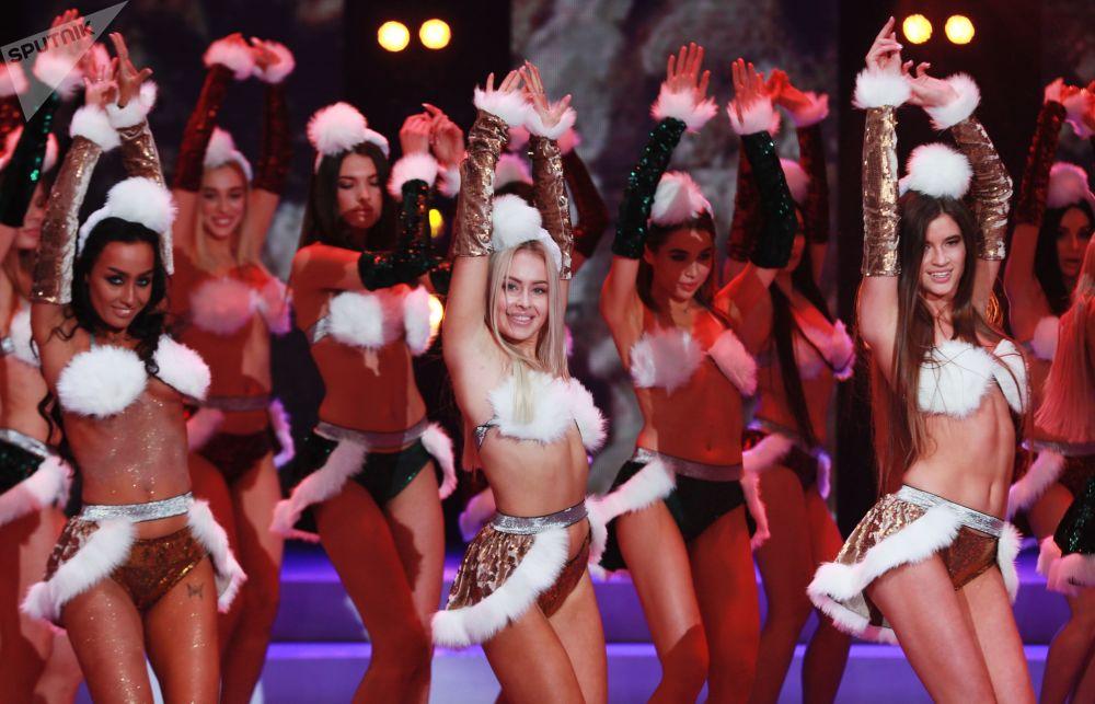 Participantes do concurso de beleza Miss Moscou 2018