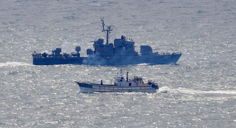 Navio da Marinha sul-coreana, imagem referencial