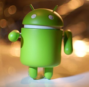 Logotipo de Android (foto de arquivo)