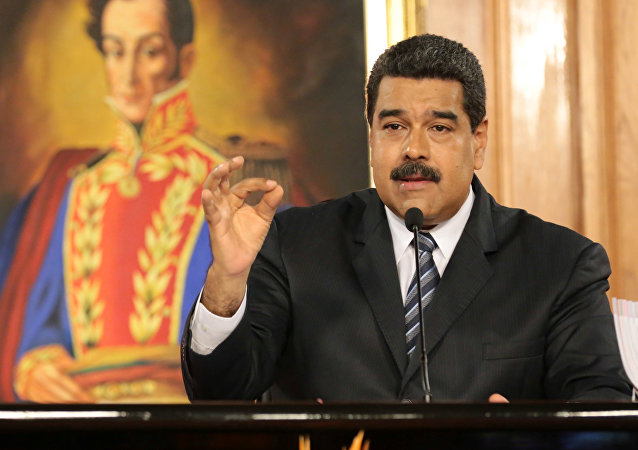 Venezuela's President Nicolas Maduro speaks during a meeting with businessmen in Caracas, Venezuela January 9, 2017