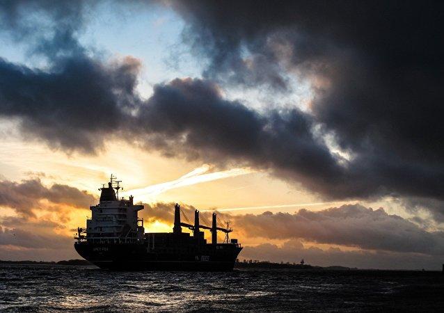 Um navio de carga (imagem ilustrativa)
