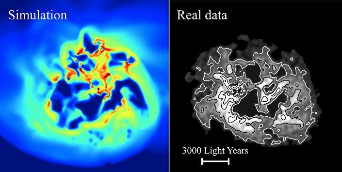 Imagem do movimento da matéria escura