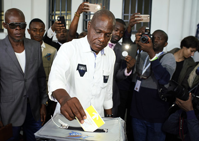 Presidenciável Martin Fayulu no Congo.