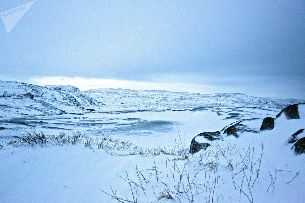 Península de Kola na época do inverno, uma das regiões mais bonitas e remotas da Rússia