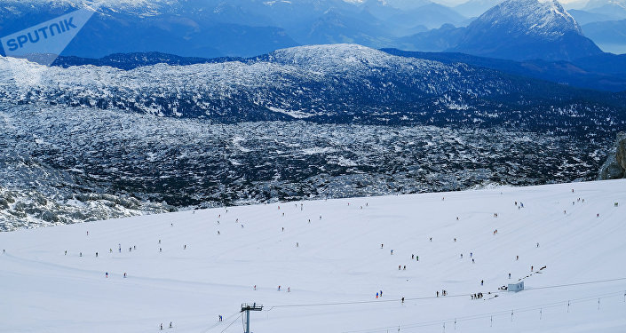 Alpes austríacos em Ramsau, Hoher Dachstein (imagem referencial)