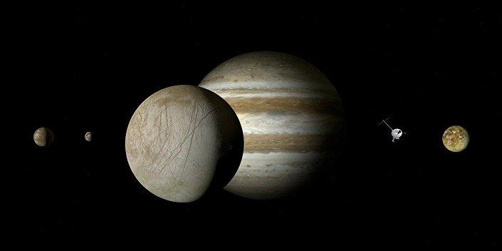 Europa, uma lua de Júpiter