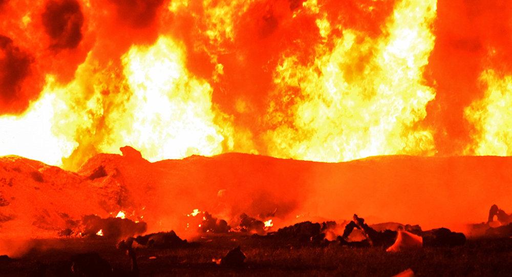 Explosão em oleoduto no México
