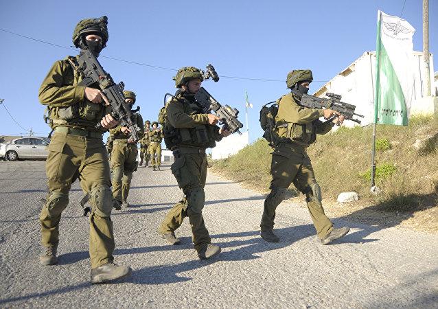Soldados das FDI na área de Hebron