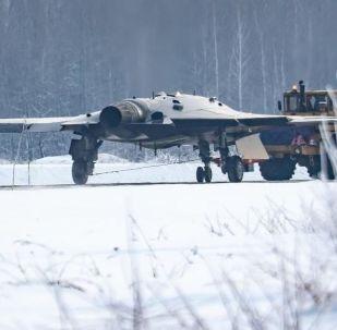 Veículo aéreo não tripulado russo Okhotnik (foto de arquivo)