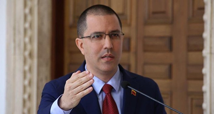 O ministro das Relações Exteriores da Venezuela, Jorge Arreaza