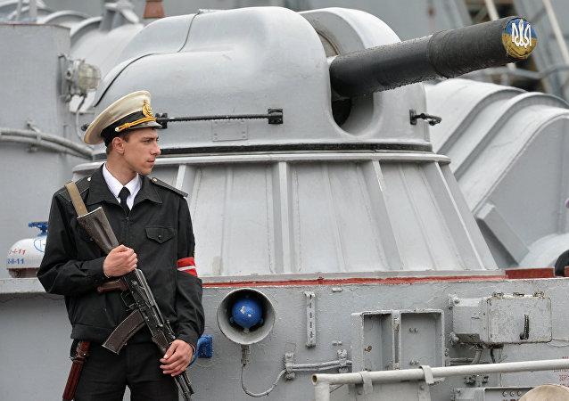 Marinheiro ucraniano de guarda em Odessa (foto de arquivo)