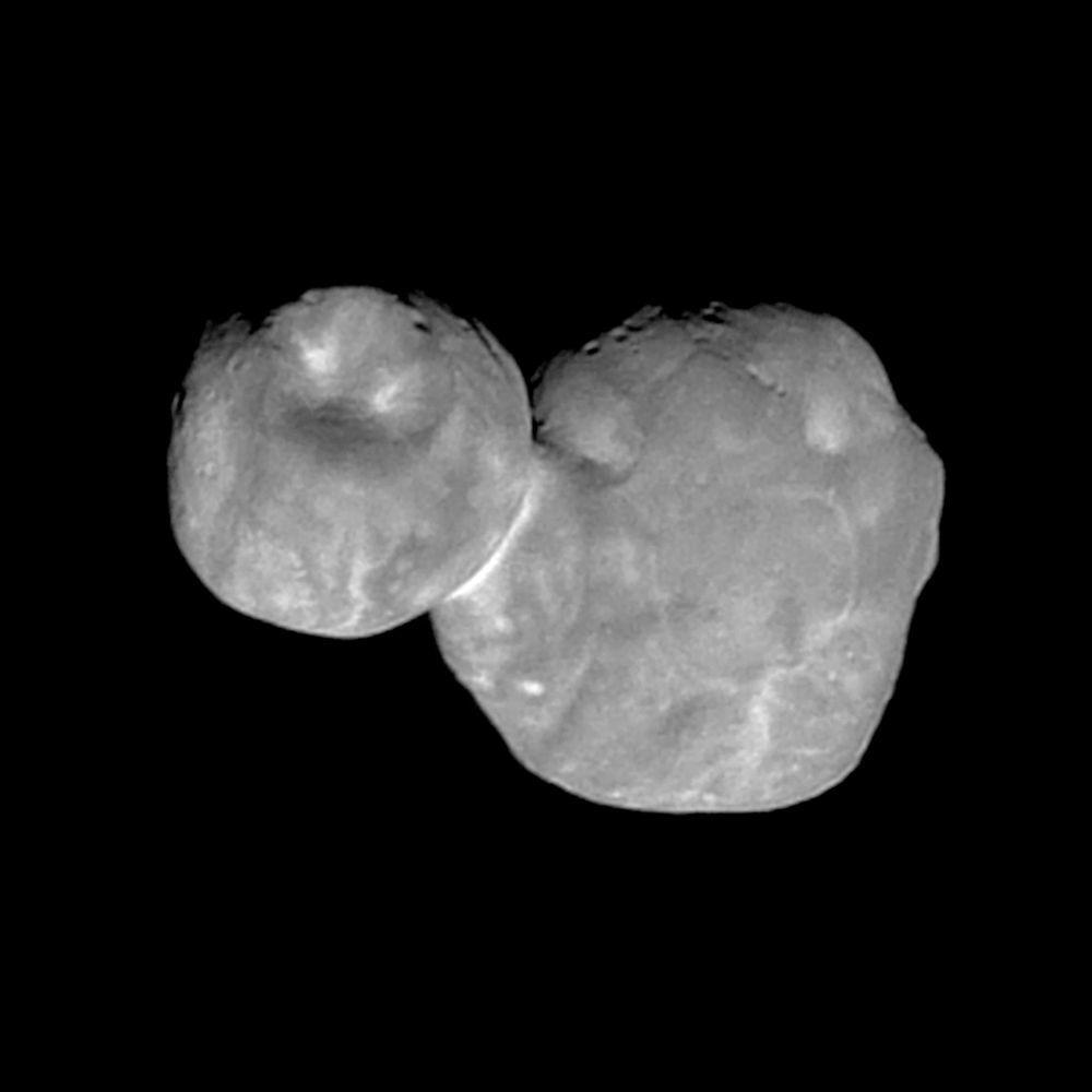 O detalhado como nunca Ultima Thule – asteroide que se encontra no Cinturão de Kuiper – visto pela sonda New Horizons