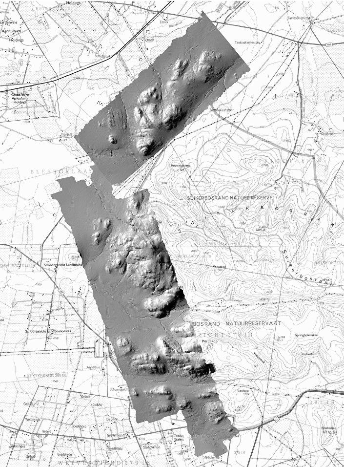 Imagem da cidade perdida de Kweneng na África do Sul capturada com a ajuda de tecnologias a laser
