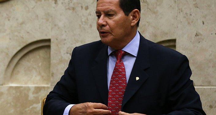 O vice-presidente da República, General Hamilton Mourão durante sessão solene de abertura do Ano Judiciário de 2019 realizada no STF.