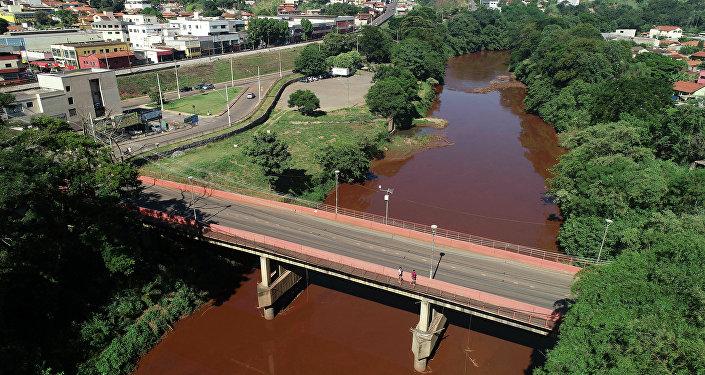 Rio Paraobeba, poluído depois do rompimento de barragem em Brumadinho (MG)