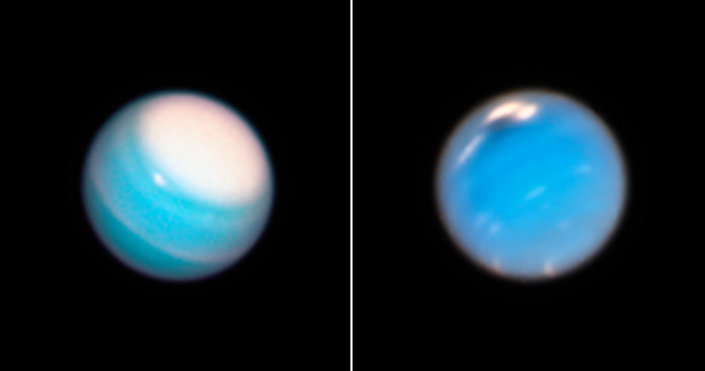 Hubble revela furacão misterioso na atmosfera de Netuno