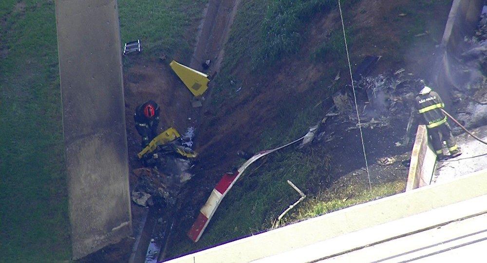 Acidente de helicóptero em São Paulo matou o piloto e também o jornalista Ricardo Boechat.