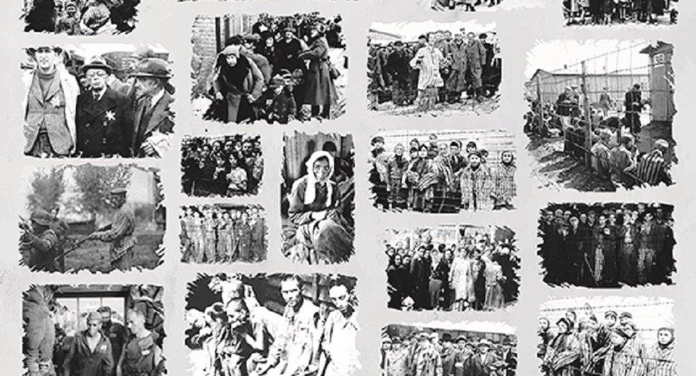 Prisioneiros do campo de concentração Crveni Krst, na cidade sérvia de Nis