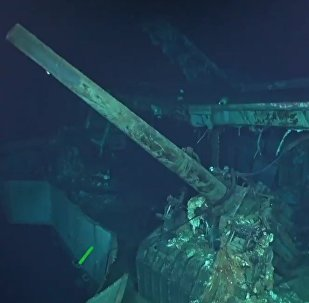 Porta-aviões norte-americano Hornet afundado em 1942 (imagem referencial)