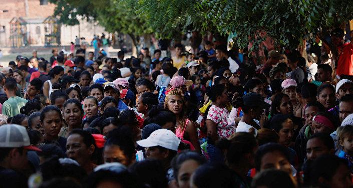 Migrantes venezuelanos em Colômbia