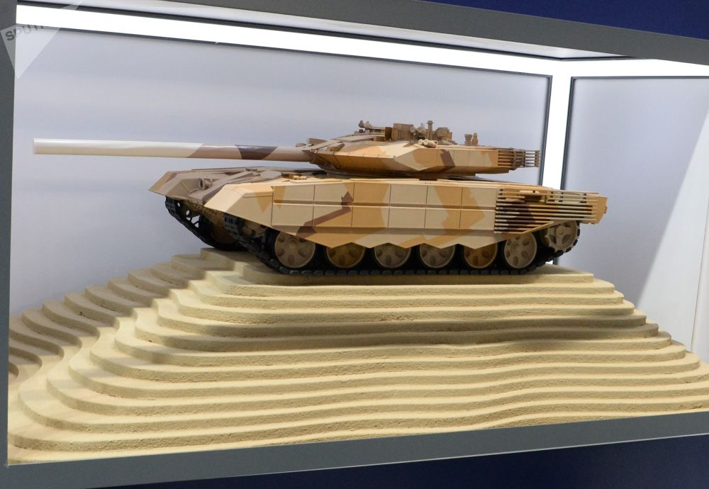 Maquete do tanque russo T-90MS