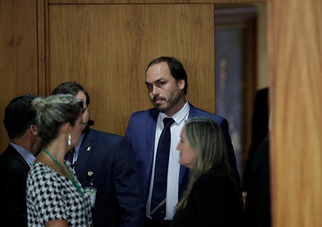 Carlos Bolsonaro, filho do presidente do Brasil, Jair Bolsonaro