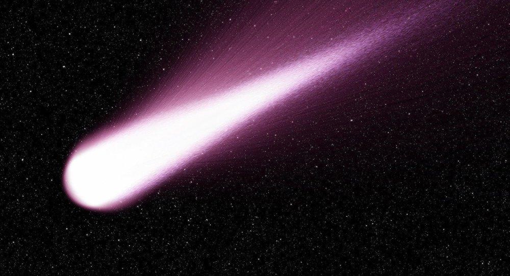Um raio atravessando espaço