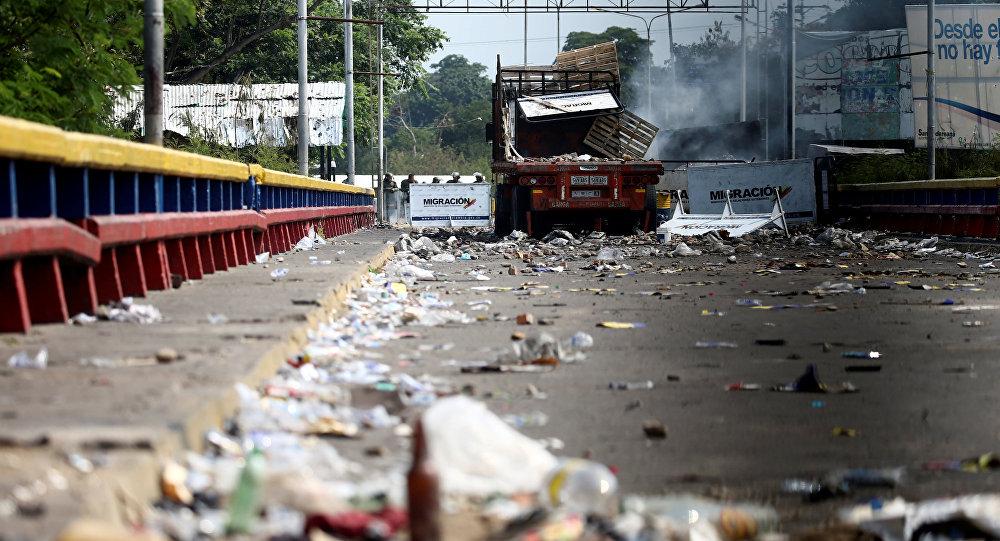 Situação na fronteira entre a Venezuela e a Colômbia em 24 de fevereiro de 2019