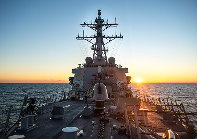 Destróier de mísseis norte-americano USS Donald Cook da classe Arleigh Burke