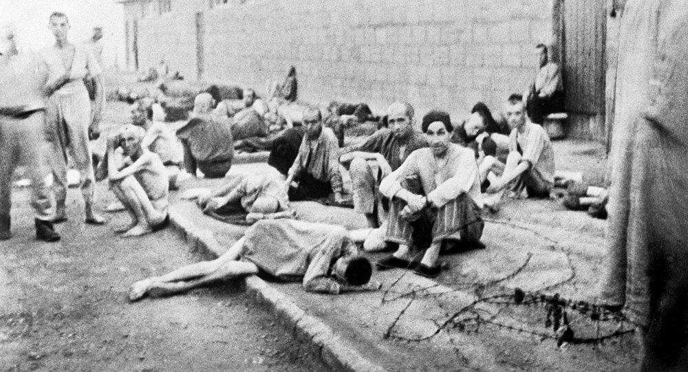 Prisioneiros do campo de concentração de Mauthausen
