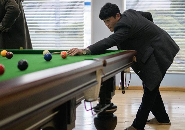 Sala de bilhar em Pyongyang
