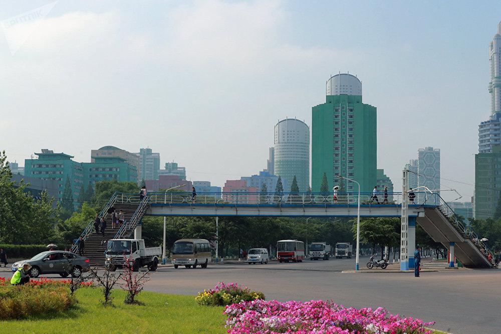 Edifícios residenciais em Pyongyang