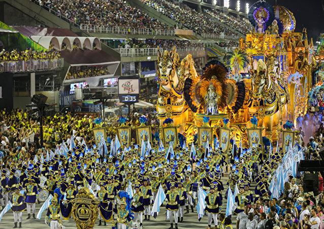 Desfile da Vila Isabel no 2º dia das escolas de samba na Sapucaí