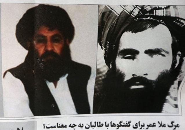 Mullah Akhtar Mansoor und Mullah Mohammad Omar