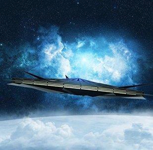 OVNI no espaço (imagem ilustrativa)