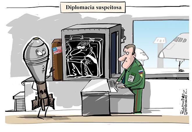 Mina que se encaixa na diplomacia americana