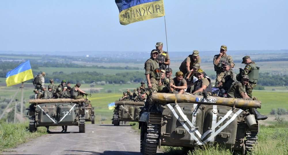 Membros das Forças Armadas da Ucrânia