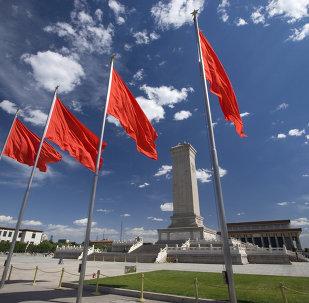 Praça da Paz Celestial, Pequim, China.
