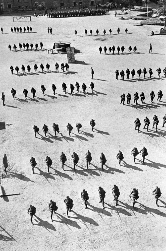 Exercícios de infantaria.