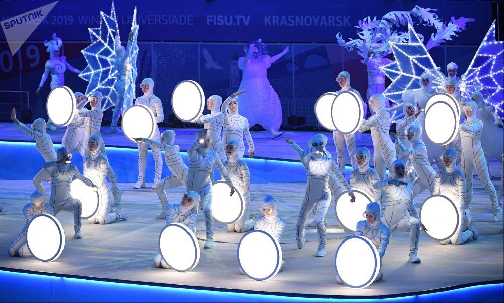 Cerimônia de fechamento da Universíada de Inverno 2019 em Krasnoyarsk, Rússia