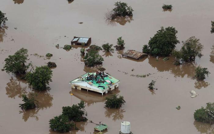 O ciclone Idai atingiu Moçambique, causando inundações