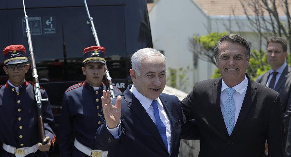 Premiê israelense Benjamin Netanyahu e presidente eleito Jair Bolsonaro no Forte de Copacabana, Rio de Janeiro, 28 de dezembro de 2018