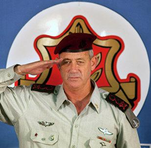 Benny Gantz, então chefe do Estado-Maior do exército israrelense, 14 de fevereiro de 2011