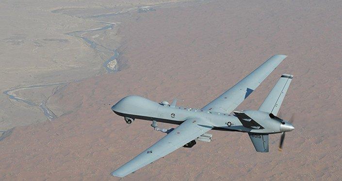 Um veículo aéreo não tripulado MQ-9 Reaper